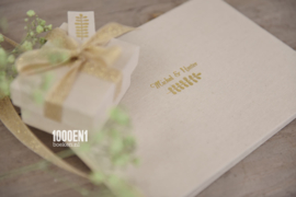 Wedding folder A5 natural linen (landscape)