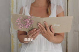 Wedding folder A5 sand linen (landscape)