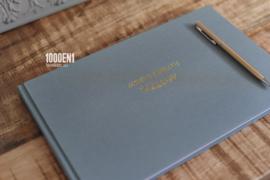 Gastenboek linnen 18 cm x 28 cm