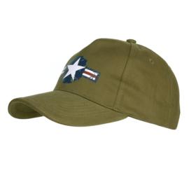 Baseball Cap USAF Vintage Groen