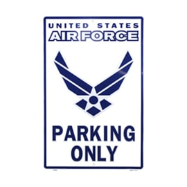 Metalen Plaat US Airforce Parking