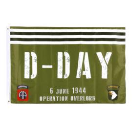 Vlag D-Day 75 jaar Airborne 101st-82nd