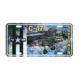 Nummerplaat C-47 Skytrain