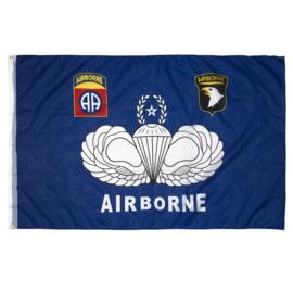 Vlag Airborne 101st / 82nd Blauw