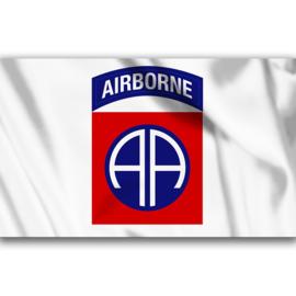 Vlag 82nd Airborne Div. Wit
