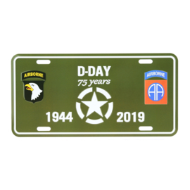 License Plate D-Day 75 Years