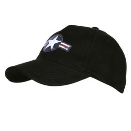 Baseball Cap USAF Vintage Zwart