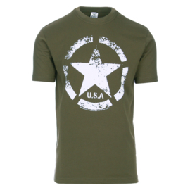 T-shirt Vintage US Army Groen
