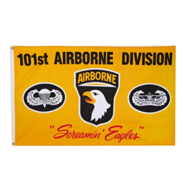 Vlag 101st Screaming Eagle Geel