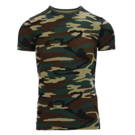 Kinder T-shirt Woodland Camo