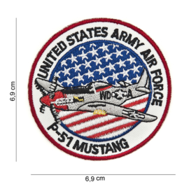 Embleem P-51 Mustang USAAF klein