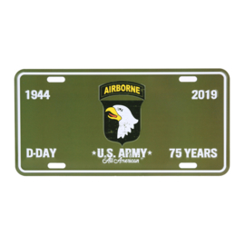 License Plate D-Day 101st Airborne