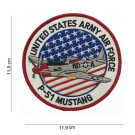 Embleem P-51 Mustang USAAF Groot