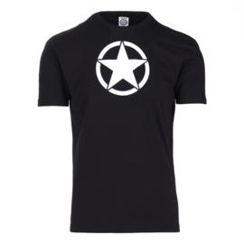 T-shirt US Army Ster Zwart