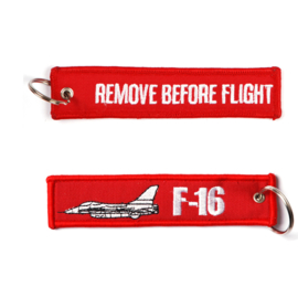 Sleutelhanger F-16 Remove Before Flight