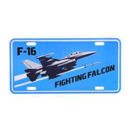 Nummerplaat F-16 Fighting Falcon
