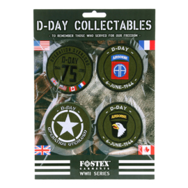 D-Day Collectables 75 Kaart emblemen 4st