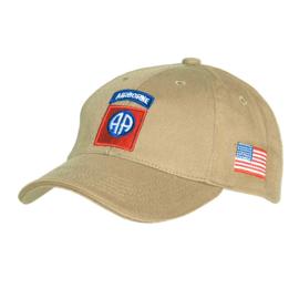 Baseball Cap 82nd Airborne Division Khaki