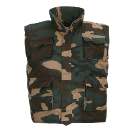 Kinder bodywarmer woodland