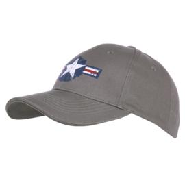 Baseball Cap USAF Vintage Grijs