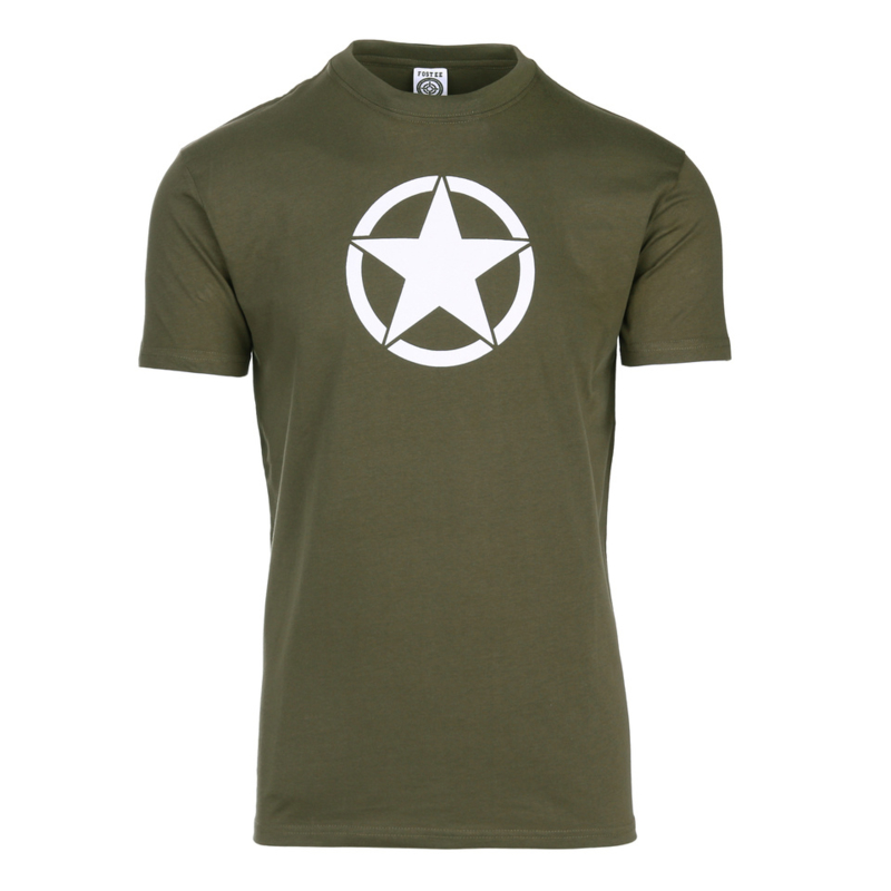 T-shirt US Army Ster Groen