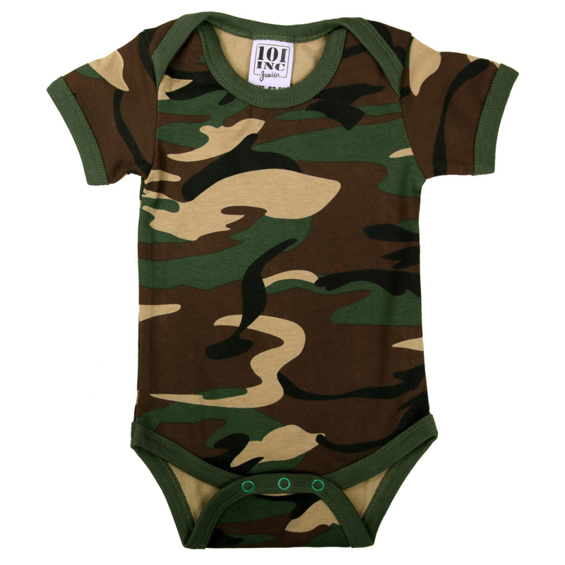 Baby Romper Woodland Camouflage