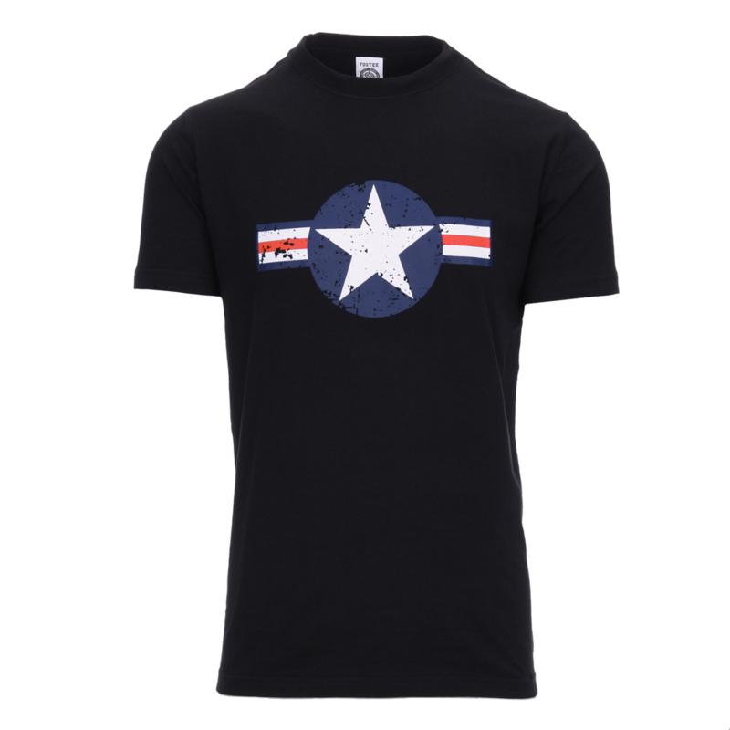 T-shirt USAF Zwart