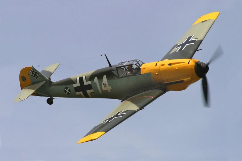 Sluban Messerschmitt BF109 Vliegtuig WWII