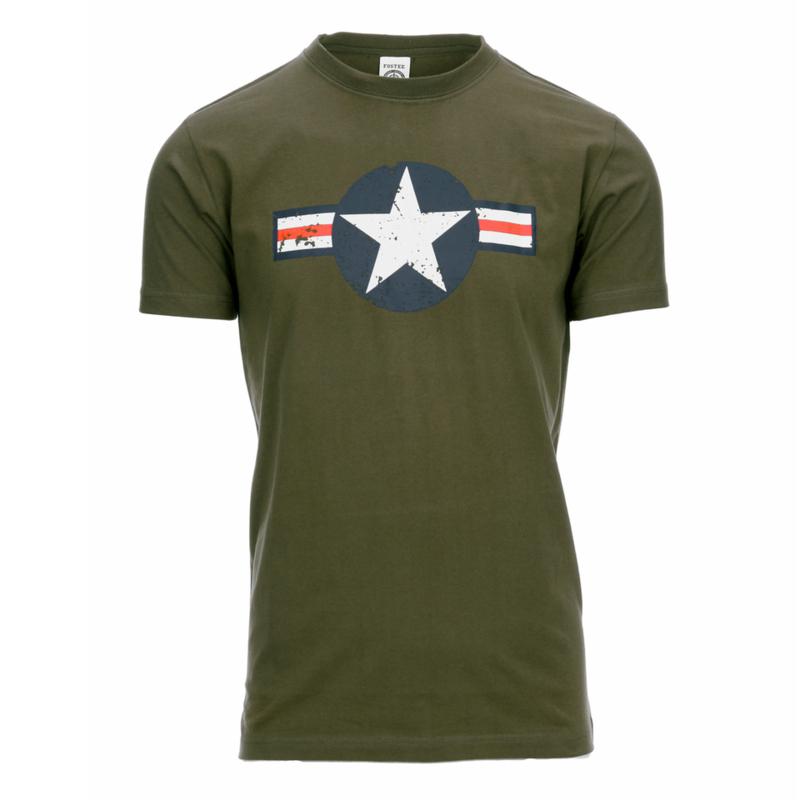 T-shirt USAF Groen