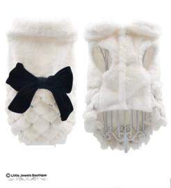 Faux fur jasje - wit