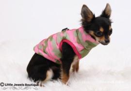 Waterproof/gewatteerd jasje- Camouflage & roze