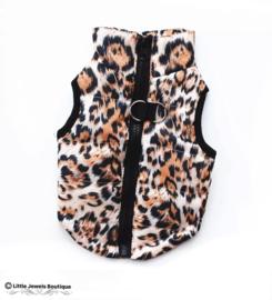 Waterproof/gewatteerd jasje- luipaard
