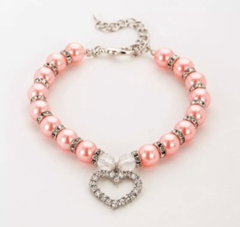 Parelketting- roze