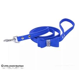 Halsband met strikje en strass + riem