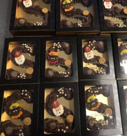 Gespoten chocoladeletter
