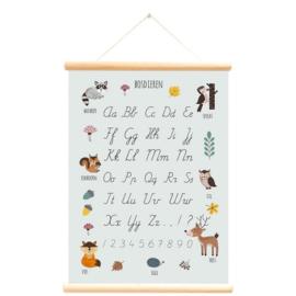 Schoolplaat / Bosdieren alfabet