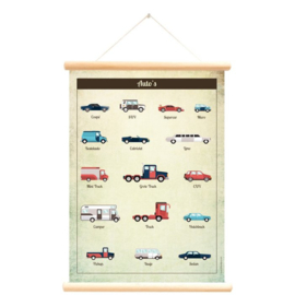 Schoolplaat / Auto's