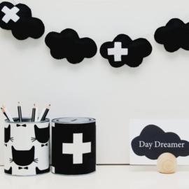 Wolken slinger / Zwart wit