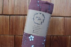 Hydrofiel doek XL / Bruin met bloemen