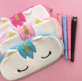 NL - Pencil pouch plushie unicorn (5 PCS)