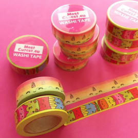 NL - Washi Tape - Cube friends / Unicorn (6 PCS)