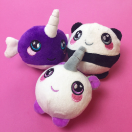 NL - 6 X SquishyPlushie Unicorn and Narwhal (6 PCS)