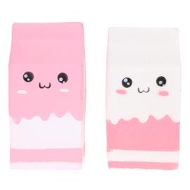 Squishy Milk Pink / White (6 PCS)