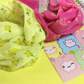 MostCutest.NL bandana pink / yellow (6 PCS)