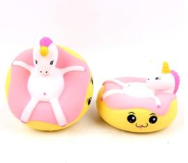 NL - 6 X  Squishy Unicorn donut  (6 PCS)