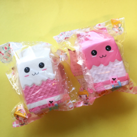 NL - Squishy Milk Pink / White (6 PCS)