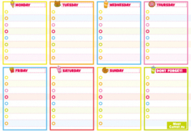 EU - A5 Kawaii Weekly Planner (5 PCS)