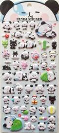 Stickersheet puffy mochi panda (5 PCS)