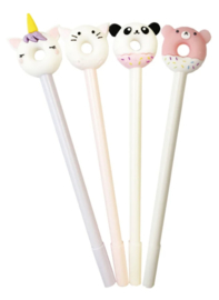 Pen Kawaii Unicorn / Panda Donut Set (12 PCS)