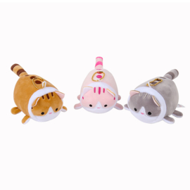 NL - Plushie Soft Kawaii Cat - Mixed Colours - 12 PCS